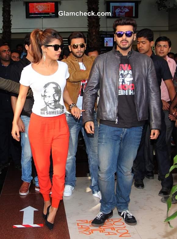 Cast of Gunday at Wellingkar College Mumbai