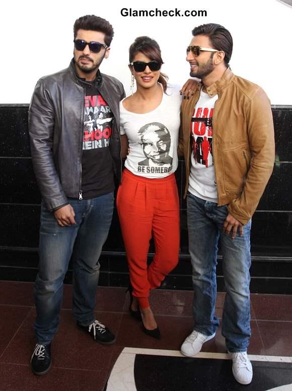 Cast of Gunday at Wellingkar College in Mumbai