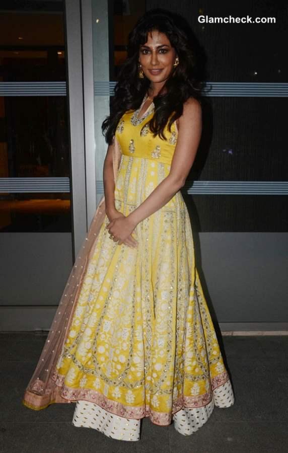 Chitrangada Singh in Yellow Anarkali Suit at Reliance Digital Awards