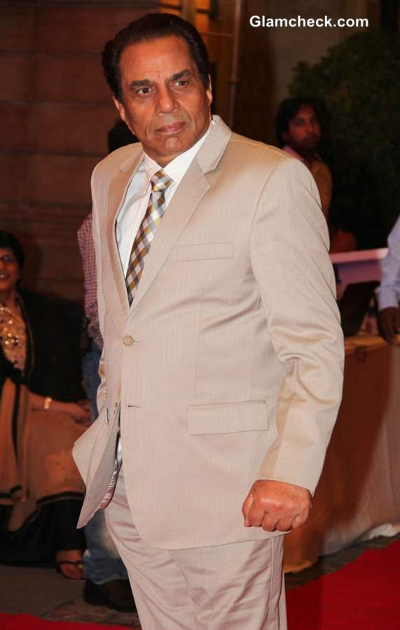 Dharmendra during the sangeet ceremony of Ahana Deol and Vaibhav Vohra