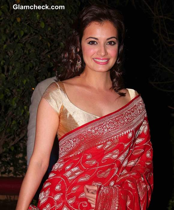 Dia Mirza pictures at Ahana Deol and Vaibhav Vora Marriage