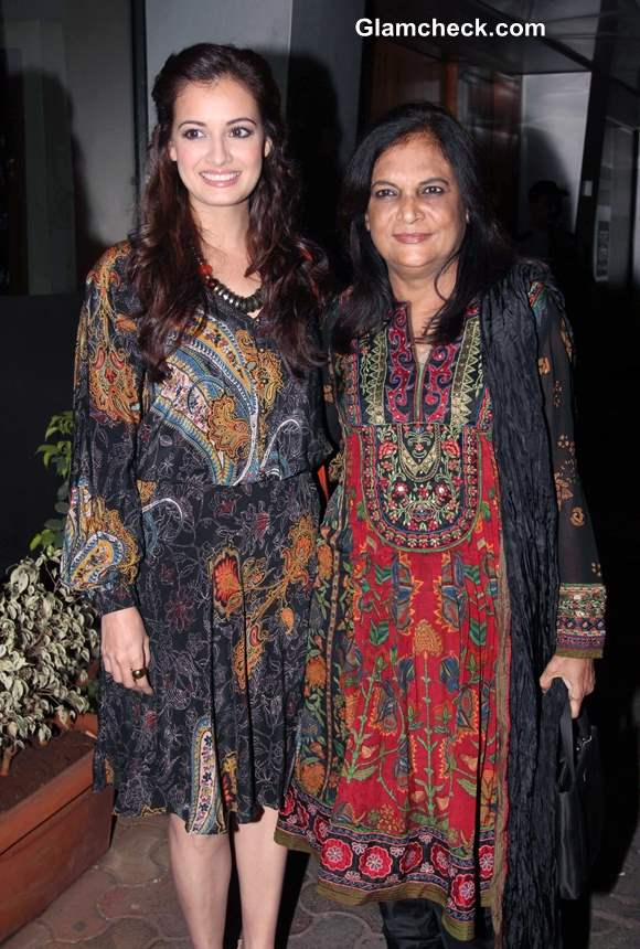Dia Mirza with mother Deepa Mirza during