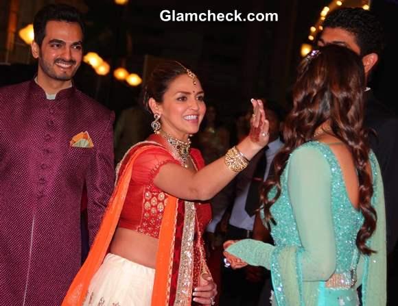 Esha Deol at Ahana and Vaibhav Vohra Sangeet Ceremony