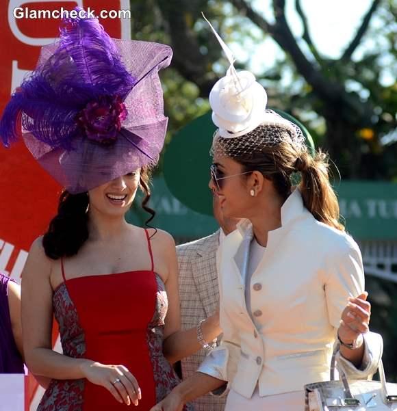 Evelyn Sharma with Natasha Poonawa at Hello Class Race 2014