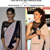 Face Off In an Atsu Sekhose Saree - Sonam Kapoor Vs Deepika Padukone