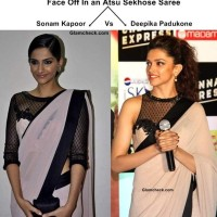 Face Off In an Atsu Sekhose Saree - Sonam Kapoor Vs Deepika Padukone