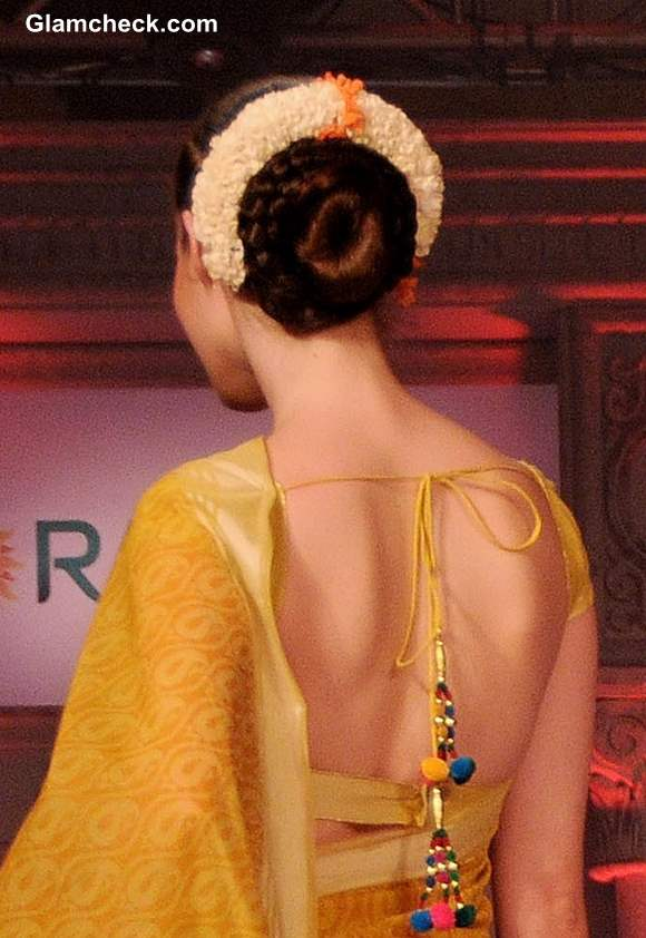 Gajra Hairstyles with Bun