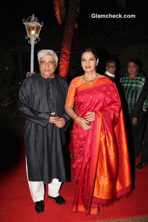 Javed Akhtar and Shabana Azmi at Ahana Deol and Vaibhav Vora Marriage