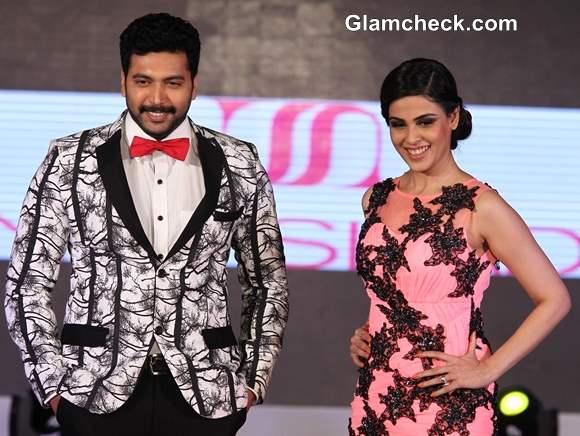 Jayam Ravi and Genelia DSouza at Silk Mark Bridal Extravaganza 2014