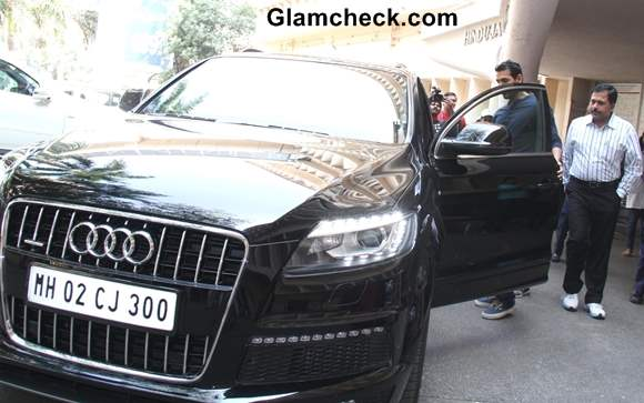 John Abraham Spotted in his Audi Q7