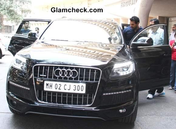 John Abraham in his Audi Q7