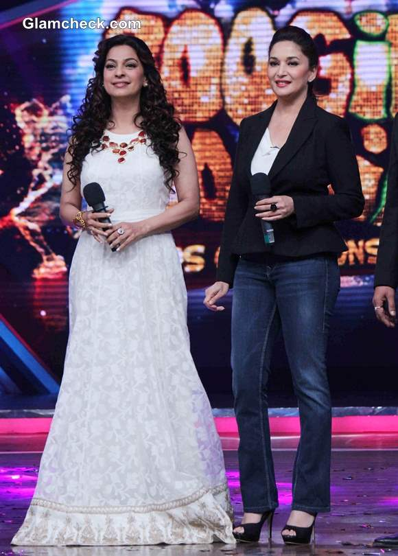 Juhi Chawla and Madhuri Dixit Promote Gulaab Gang at Boogie Woogie