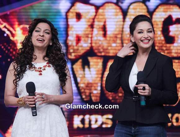 Juhi and Madhuri at Boogie Woogie