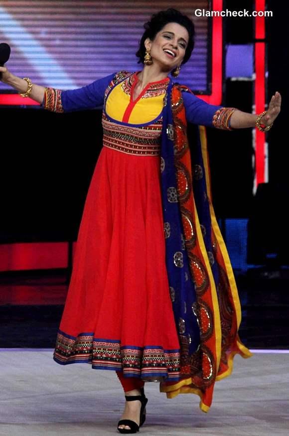 Kangana Ranaut in Manish Arora Shakes a Leg on Indias Got Talent