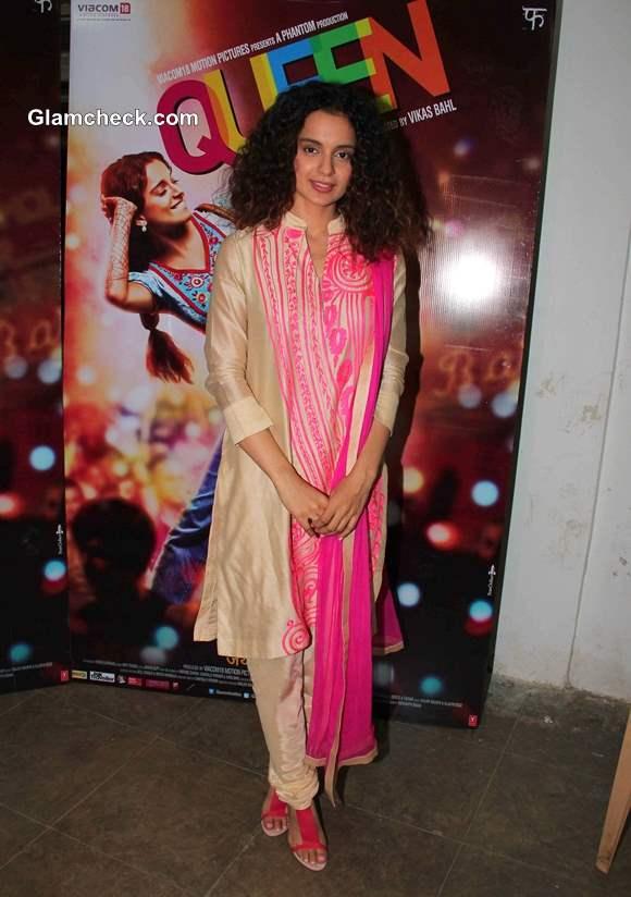 Kangana Ranaut in Salwaar Kameez at Queen Promotions