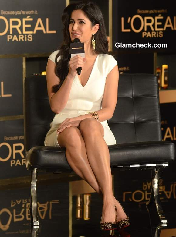 Katrina Kaif In Tom Ford White Dress At L Oreal Paris Event