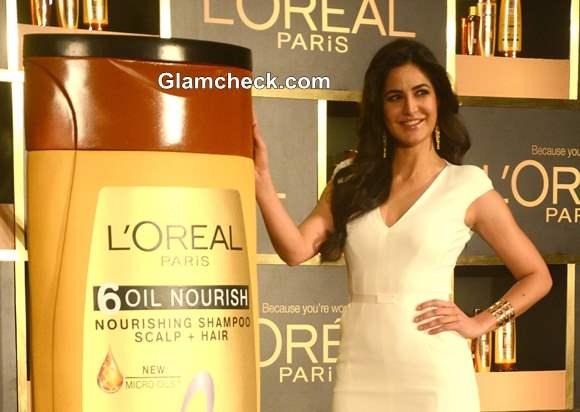 Katrina Kaif in Tom Ford White Dress at LOreal Paris Event