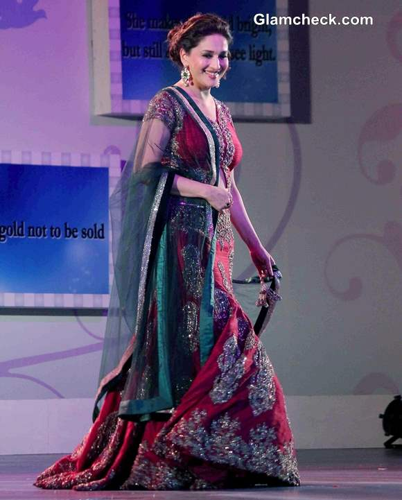 Madhuri Dixit 2014 at Save and Empower Girl Child Fashion Show