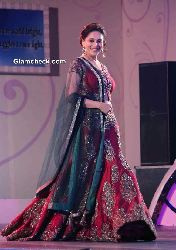 Madhuri Dixit Walks the Ramp at Save and Empower Girl Child Fashion Show