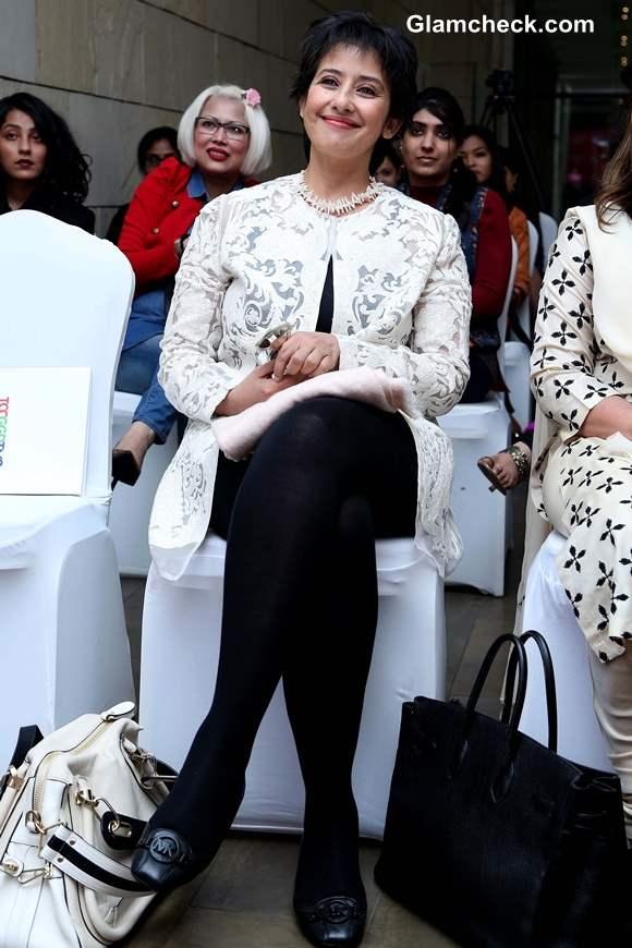 Manisha Koirala 2014 Unveils Mastectomy Blouse at Design One