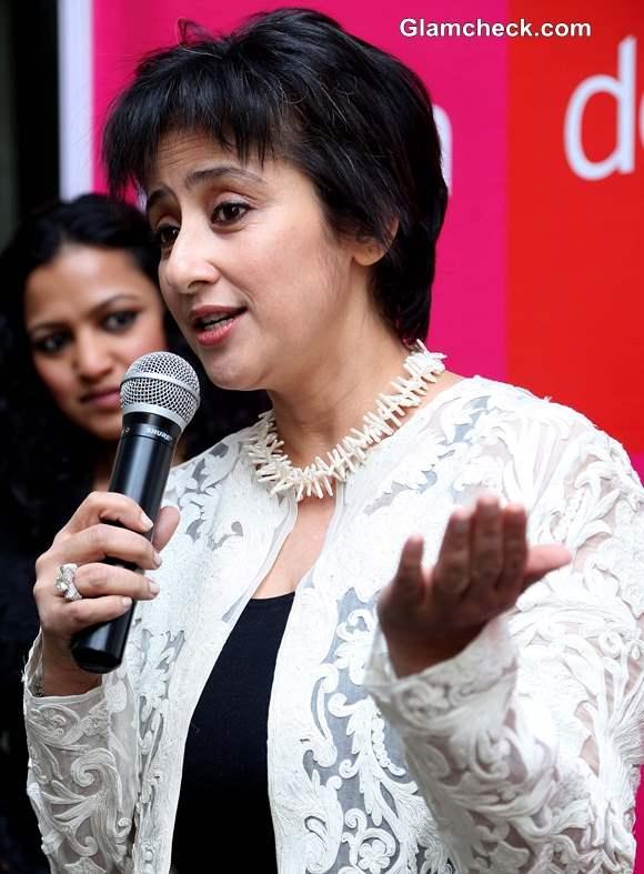 Manisha Koirala Unveils Mastectomy Blouse at Design One