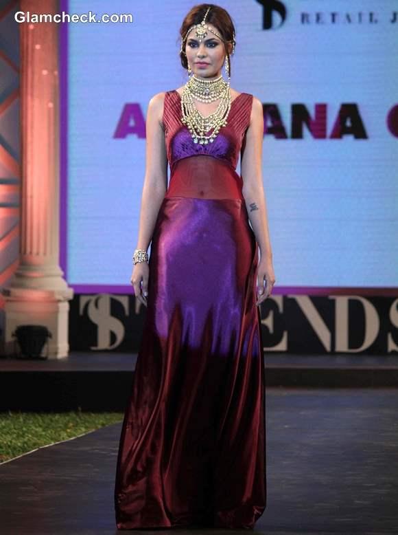 Miss Asia Pacific World 2013 Srishti Rana 2014 at  Azva Jewellery Fashion Show