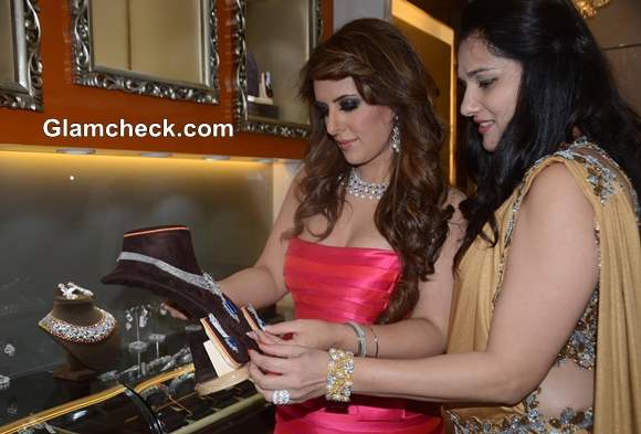 Pria Kataaria Puri during the launch of The Cappuccino Collection store