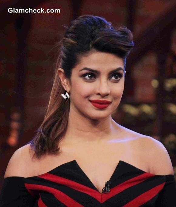 Priyanka Chopra in Atsu Sekhose Stripe-y number on Comedy Nights with ...