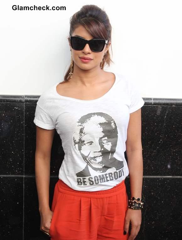 Priyanka Chopra 2014 style at Gunday Promotions