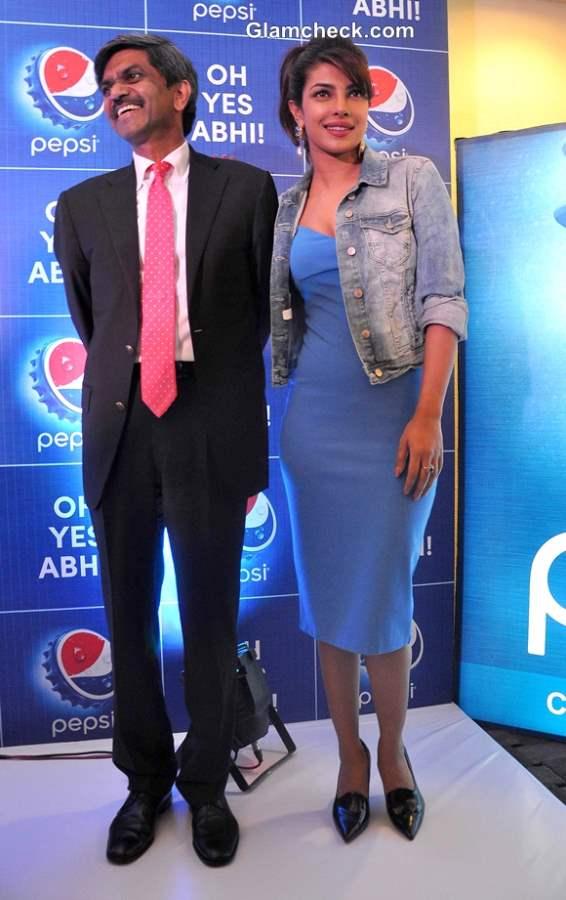Priyanka Chopra Promotes Pepsi 2014