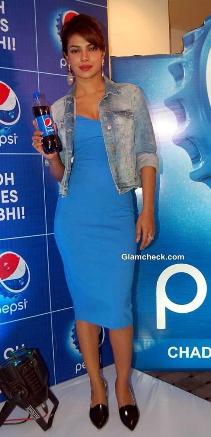 Priyanka Chopra Promotes Pepsi