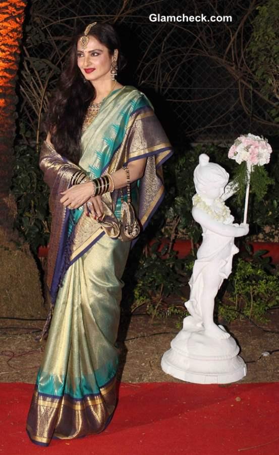 Rekha attends Ahana Deol and Vaibhav Vora Marriage