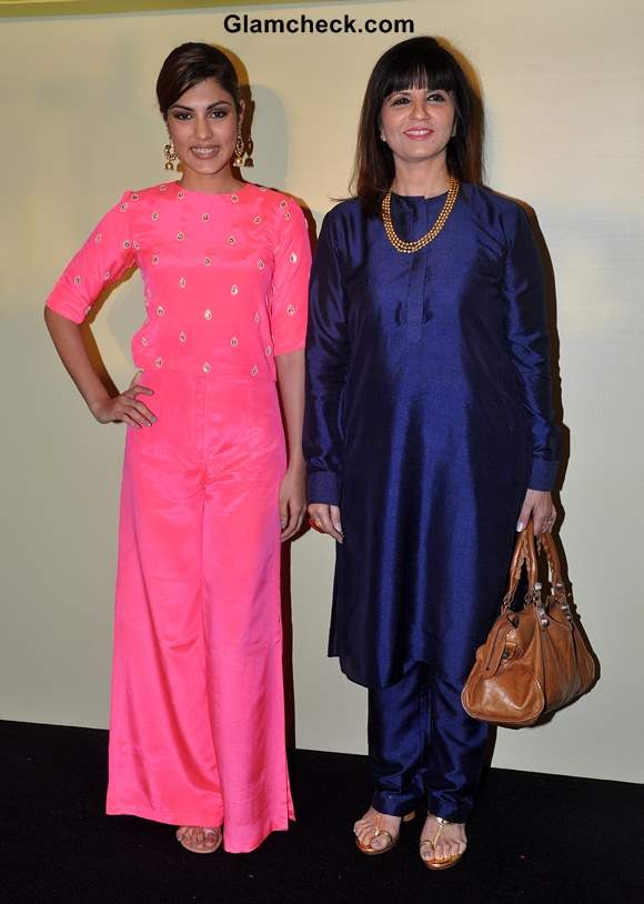 Rhea Chakraborty with fashion designer Neeta Lulla