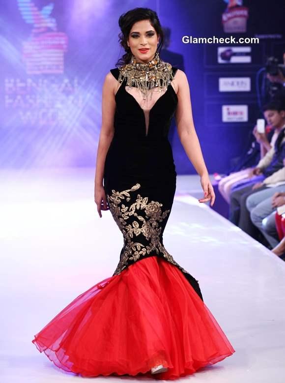 Richa Chadda displays creation by designer Jaya Mishra