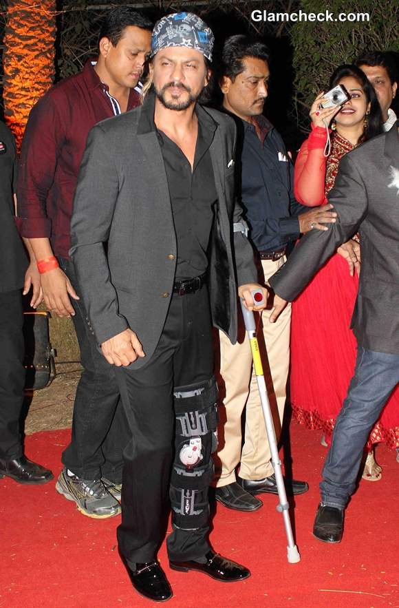 Shahrukh Recovering From Injuries but Resumes Shooting for Happy New Year