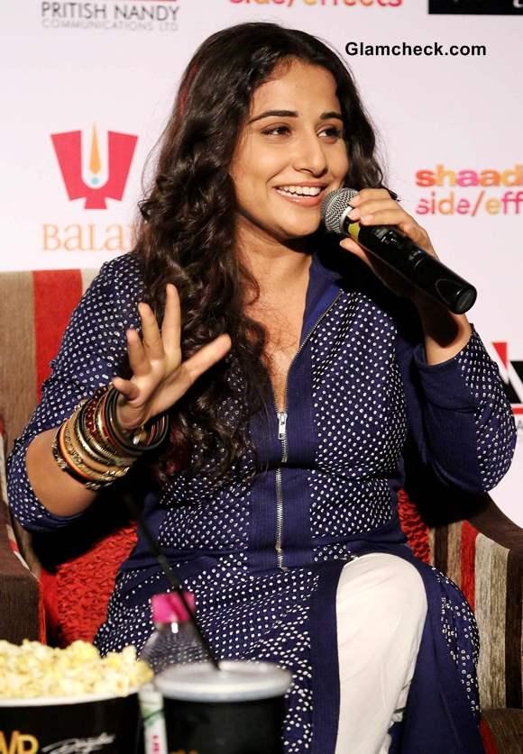 Vidya Balan during Shaadi ke Side Effects Promotions