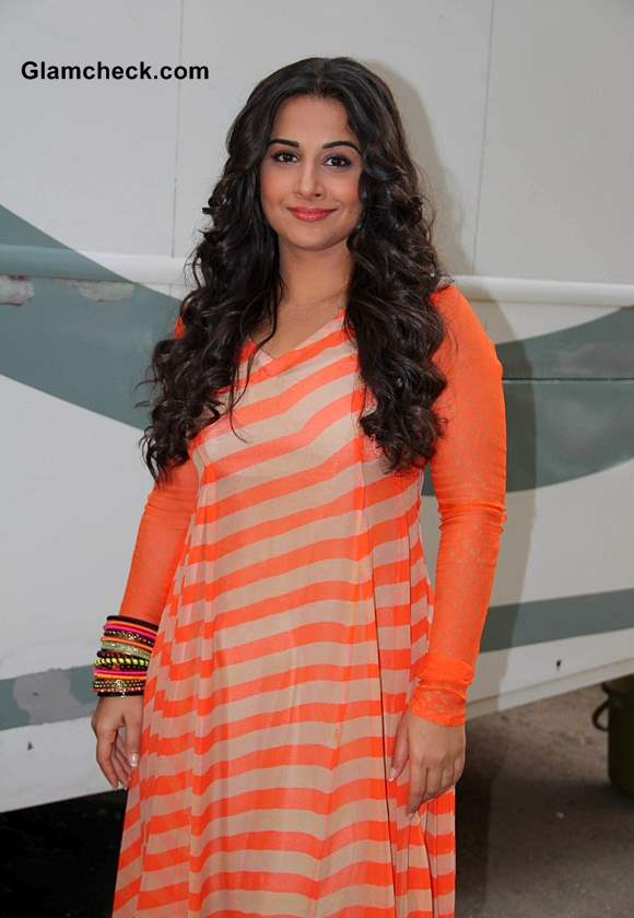 Vidya Balan on the sets of Bade Acche Lagte Hain to promote her film Shaadi Ke Side Effects