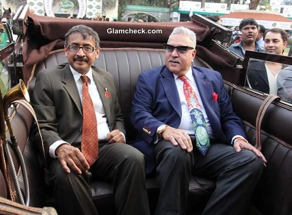 Vijay Mallya with Vivek Jain at McDowell Signature Premier Indian Derby 2014