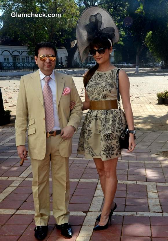 Yohan Poonawala with his wife Michelle at Hello Class Race 2014