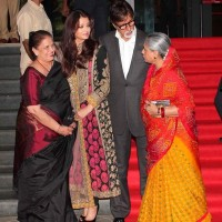 Aishwarya Rai with her mother and in-laws at Kochadaiiyaan Trailer Launch