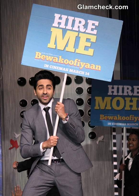 Ayushmann Promotes Bewakoofiyan at YRF Get a Job Campaign