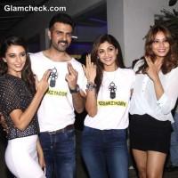 Cast of Dishkiyaoon at Special Screening in Mumbai