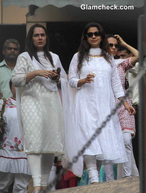 Celebs at Juhi Chawlas brother Bobbys Funeral