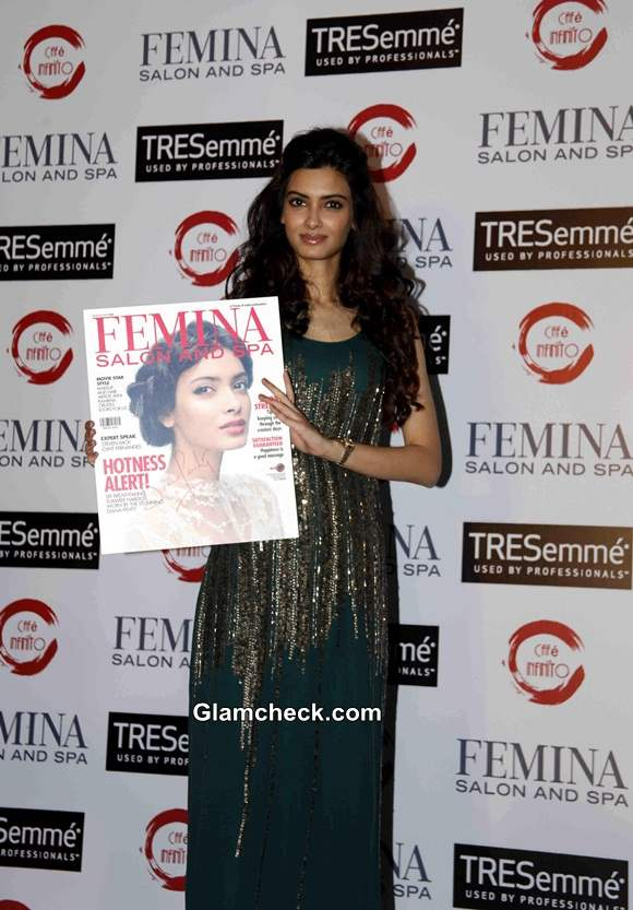 Diana Penty Launches Femina Salon and Spa Magazine Cover