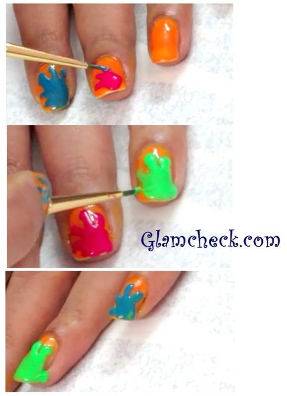 Holi Nail Art DIY - Splashes and Splatters