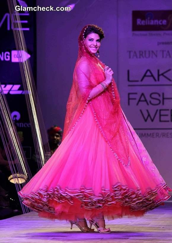 Jacqueline Fernandez  for Tarun Tahiliani at LFW SR 2014 – Day 2