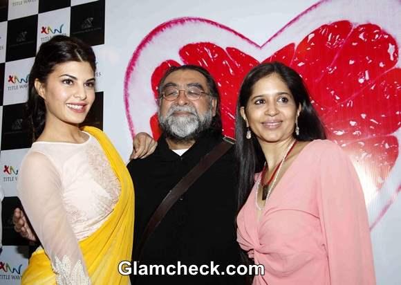 Jacqueline Fernandez with Ad filmmaker Prahlad Kakkar and his wife Mitali Dutt Kakkar
