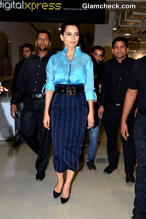Kangana Ranaut Goes Blue on Blue at Queen Promo Event