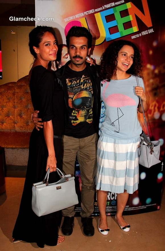 Kangana Ranaut Lisa Haydon during the special screening of the film Queen