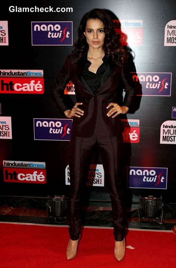 Kangana Ranaut at Hindustan Times Most Stylish Awards 2014